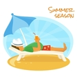 Summer sunbathe vector image