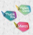 thank you logo vector image