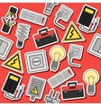 Electricity flat icons collage vector image