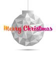 Christmas ball ornaments polygon style vector image