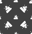 Poo icon sign Seamless pattern on a gray vector image