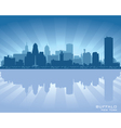 Buffalo New York skyline city silhouette vector image vector image