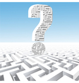 a question mark over the maze vector image