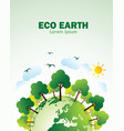 eco green earth vector image