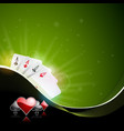 Casino with playing cards vector image