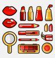 lip cosmetic icon vector image vector image