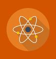 Education Flat Icon Atom vector image vector image
