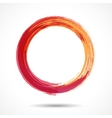 Orange and marsala fashion styled watercolor ring vector image