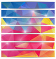 banners template with triangular mosaic background vector image