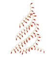 christmas tree made of electric garland vector image