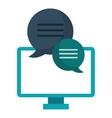 computer conversation communication bubble speech vector image