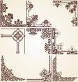 Decorative ornamental corners vector image