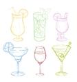 Drinks Doodle Set Handdrawn vector image