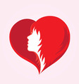 Love Hair Logo vector image