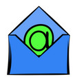 open envelope with e-mail sign icon icon cartoon vector image