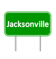 Jacksonville green road sign vector image