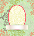 Easter egg made of flowers EPS10 vector image