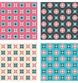 Set of seamless patterns in retro colors vector image vector image