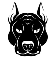Dog face symbol vector image