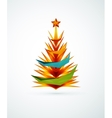 Christmas tree modern geometric design vector image vector image