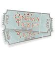 vintage cinema ticket vector image