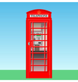 phone booth vector image vector image