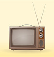 old retro tv vector image