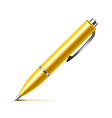 Pen isolated on white vector image vector image