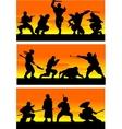 Ninja at sinrise vector image