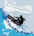surfing waves vector image vector image