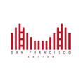 Golden Gate of San Francisco rhythm style vector image