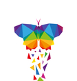 Butterfly abstract triangle vector image