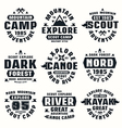 Camping and tourism badges vector image