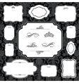 Damask frame set vector image