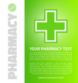 Green medical design vector image