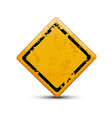metal warning sign isolated on white background vector image