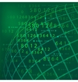 number tech background vector image