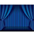 object curtain blue vector image