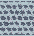 seamless background pattern of rhinoceroses vector image