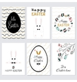 Set cards Happy Easter vector image
