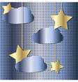 starry sky metal vector image