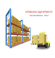 storage equipment vector image