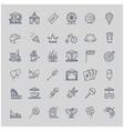 thin line set - amusement park icons vector image