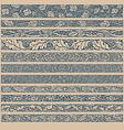 Vintage Pattern Brushes vector image
