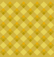 Yellow argyle seamless pattern vector image