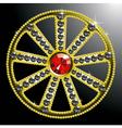expensive gold diamond wheel vector image