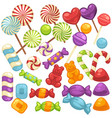 Candy and caramel sweets isolated flat vector image