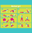 workout for women set of gym icons in flat style vector image
