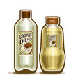 bottles with coconut oil vector image