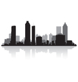 Atlanta USA city skyline silhouette vector image vector image